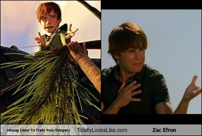 Hiccup (How To Train Your Dragon) Totally Looks Like Zac Efron