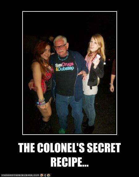 THE COLONEL'S SECRET RECIPE...