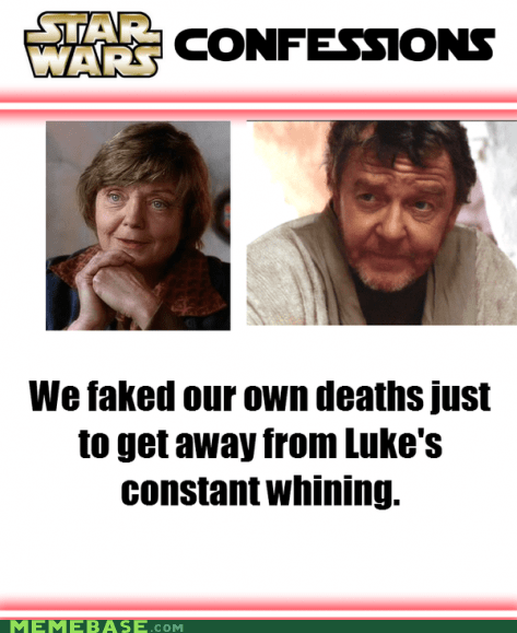 Luke,confessions,star wars,phil brown,aunt beru,whining,shelagh fraser,uncle owen,faked death