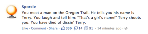 oregon trail,sporcle,dysentery,failbook,g rated