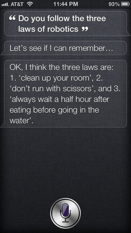 I Don't Think Siri is an Asimov Fan