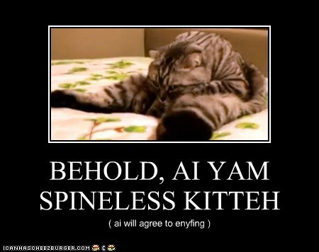 BEHOLD, AI YAM SPINELESS KITTEH