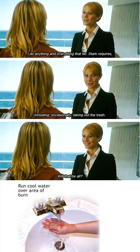 gwyneth paltrow,Movie,actor,iron man,comic,funny,burn