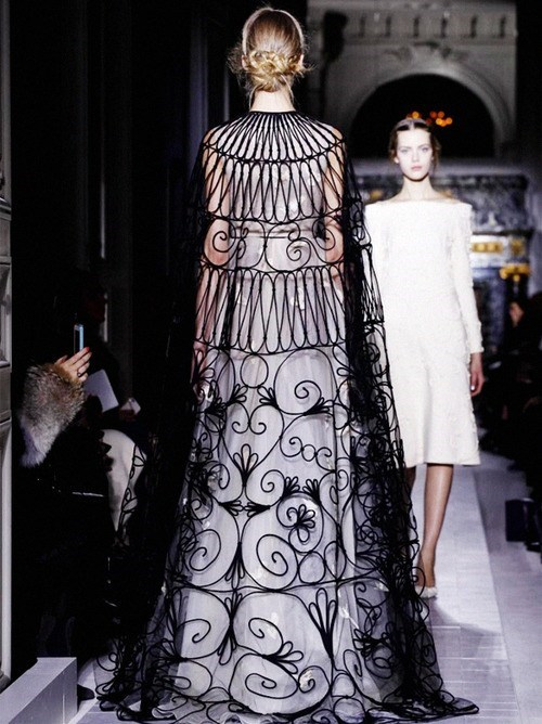 cape,fashion,scrollwork,delicate,cage,style,if style could kill