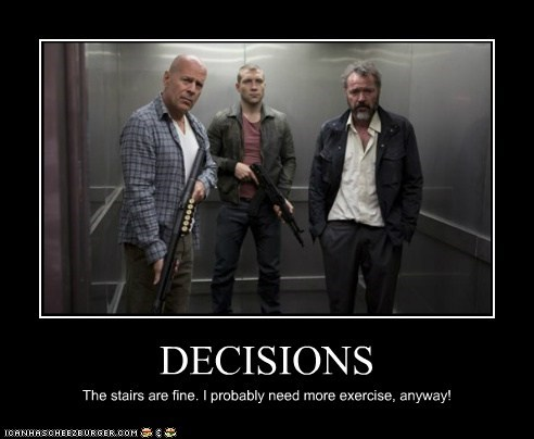 scary,bruce willis,stairs,exercise,die hard,elevateor,jai courtney