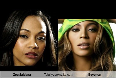Zoe Saldana Totally Looks Like Beyonce