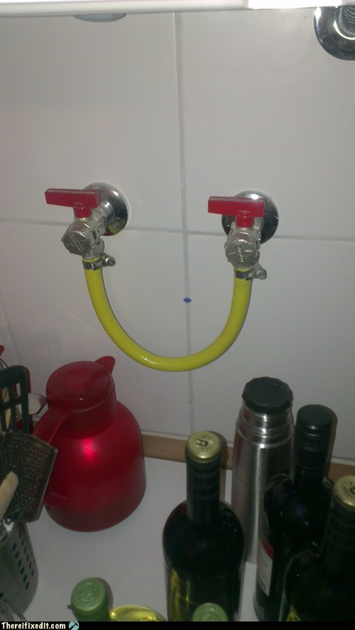 Who Let Genius Guy Near the Faucet?