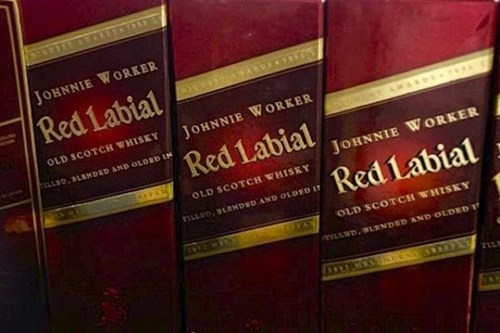 red labial,johnnie walker,real thing,knockoffs
