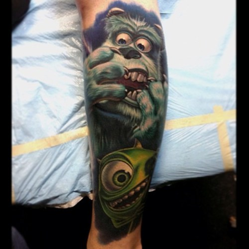 arm tattoos,monsters inc,win,g rated,Ugliest Tattoos