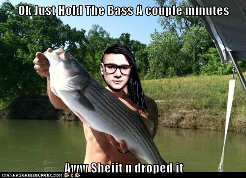 Ok Just Hold The Bass A couple minutes  Aww Sheiit u droped it