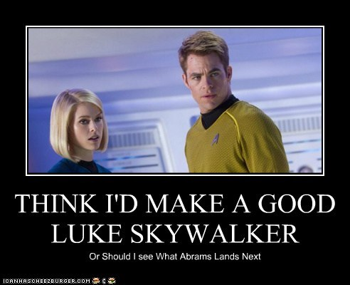 JJ Abrams,star wars,luke skywalker,Star Trek,star trek into darkness,chris pine