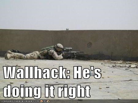 Wallhack: He's doing it right