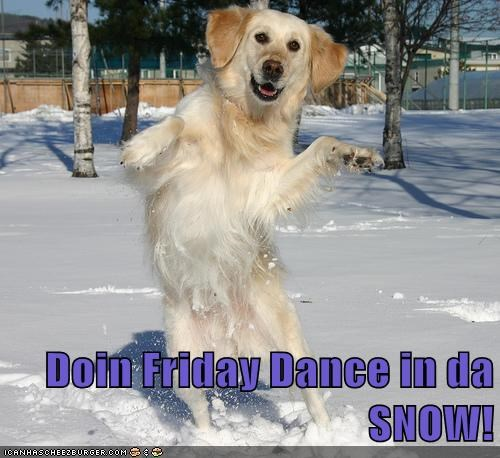Doin Friday Dance in da SNOW!