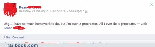 homework,procrastination,procreation