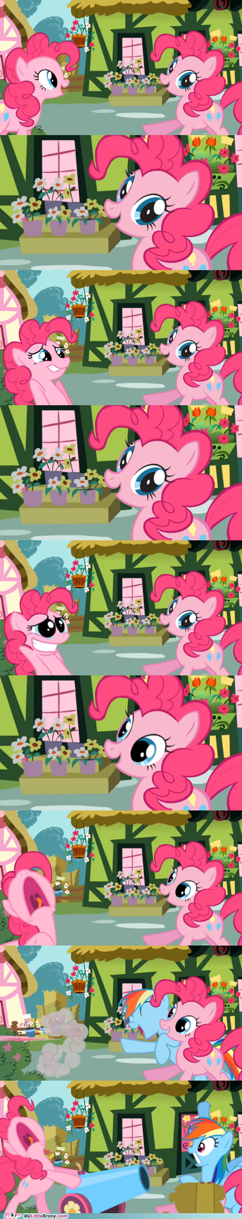 party cannon,comics,pinkie pie,rainbow dash,bolt of stone