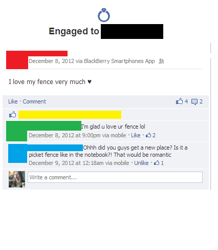 picket fence,relationship status,engaged,fiancé,fiancee