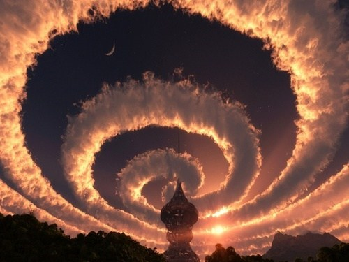 A Spiral Phenomenon in the Himalayas