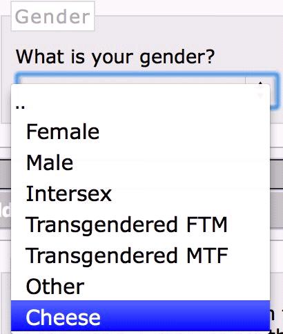 gender,cheese,survey