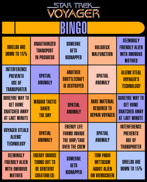 cliches,anomaly,voyager,captain janeway,Star Trek,bingo