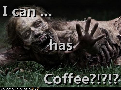 zombie,i can has,coffee,dead,The Walking Dead