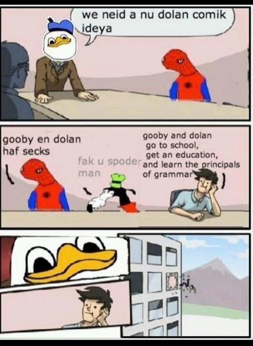 spoderman,gooby,outlook oust,meme