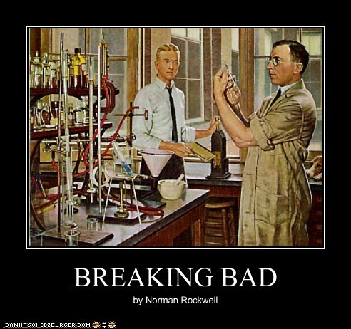 wholesome,breaking bad,norman rockwell,lab,science,Chemistry