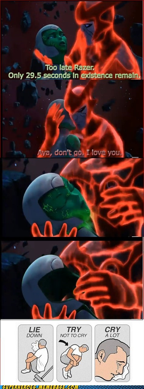 Sad,try not to cry,Green lantern,space