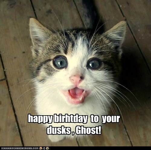happy birthday to your dusk shop, Ghost!