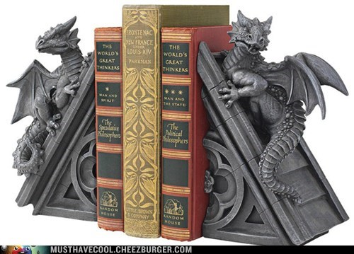 bookends,castle,sculpture,rooftop,dragons