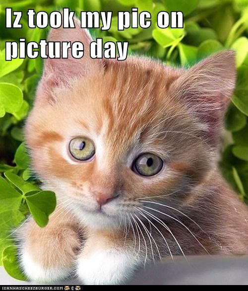 Iz took my pic on picture day