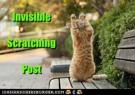 Invisible scratching post!
