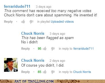 comments,youtube,chuck norris
