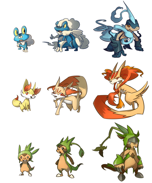gen VI,evolution,starters