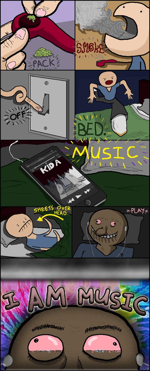drugs,high,listening,marijuana,Music