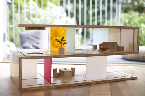 fancy,coffee table,miniature,dollhouse