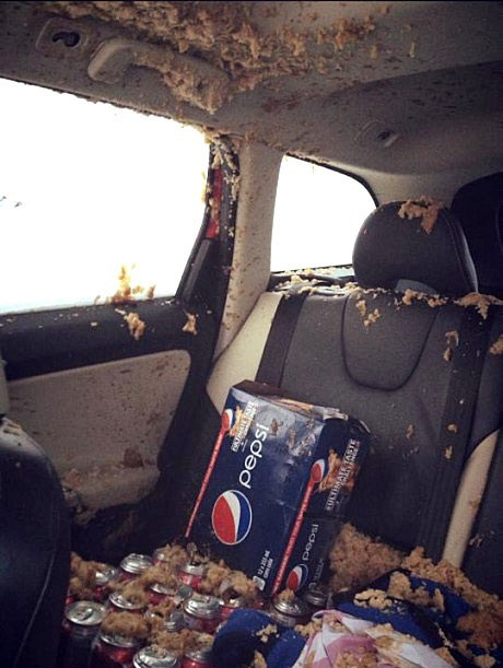 Looks Like the Soda Went POP!