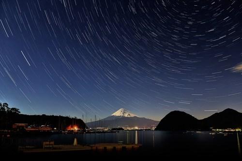 star trails,Japan,landscape,mt-fuji,exposure time