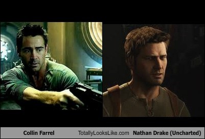 Collin Farrel Totally Looks Like Nathan Drake (Uncharted)