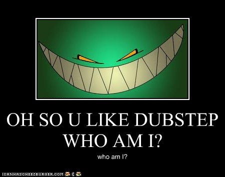 OH SO U LIKE DUBSTEP WHO AM I?