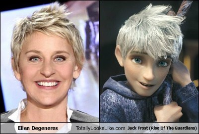 Ellen Degeneres Totally Looks Like Jack Frost (Rise Of The Guardians)
