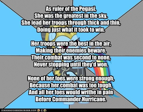 My Little Poetry: Commander Hurricane