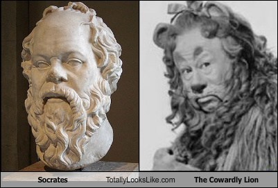 Socrates Totally Looks Like The Cowardly Lion