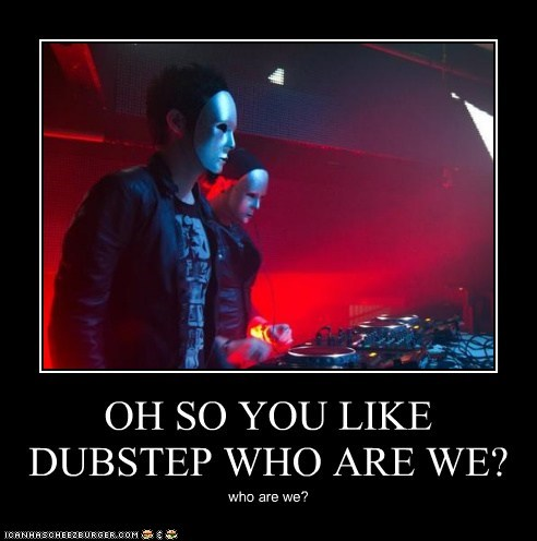 OH SO YOU LIKE DUBSTEP WHO ARE WE?