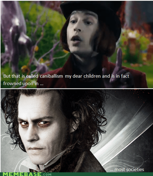Sweeney Todd,Willie Wonka,tim burton,Johnny Depp