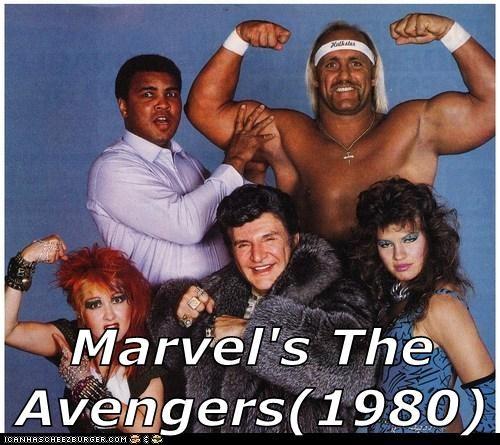 Thor,marvel,Hulk Hogan,Muhammad Ali,The Avengers,Wendi Richter,cyndi lauper,liberac
