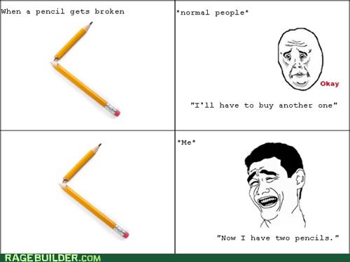 optimism,pencils,Okay,broken pencils