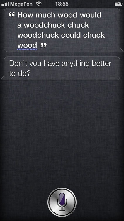 Siri's Gettin' Real Sick of This
