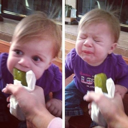 pickle,sour,funny face