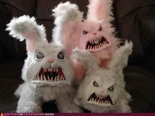 easter,bunnies,creepy,eggs