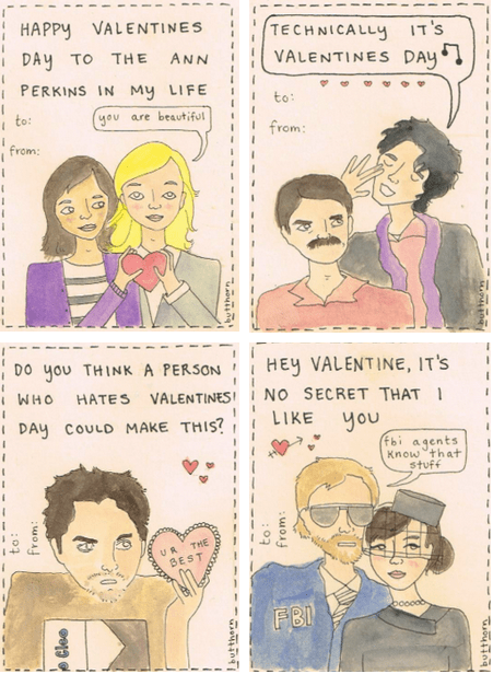 Parks and Recreation Valentine's Day Cards
